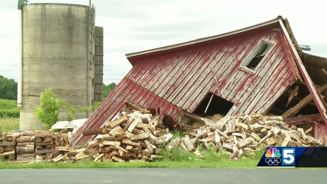 Fort Covington family cleans up after Monday storm
