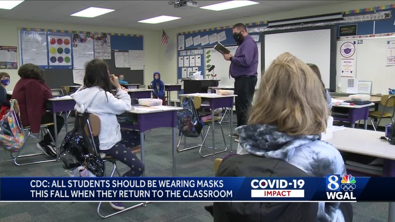 Updated CDC guidelines recommend masks in schools