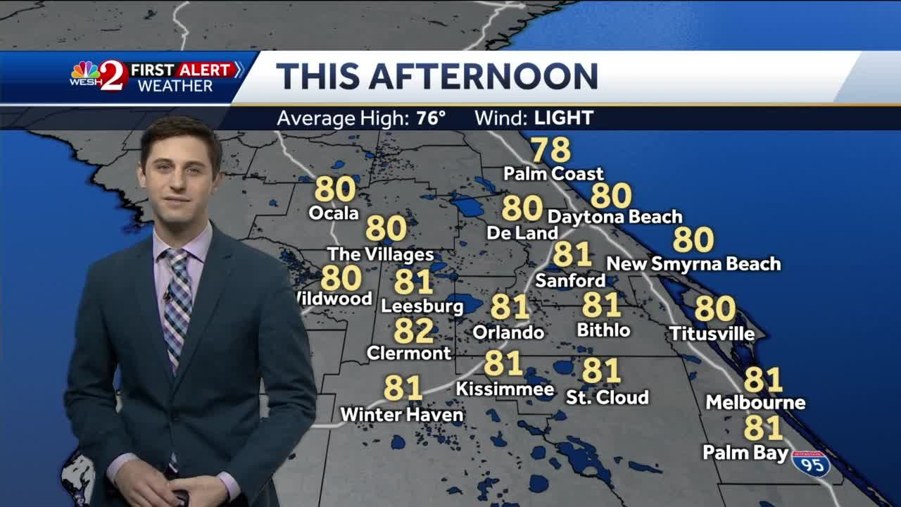 Mostly cloudy Sunday forecast