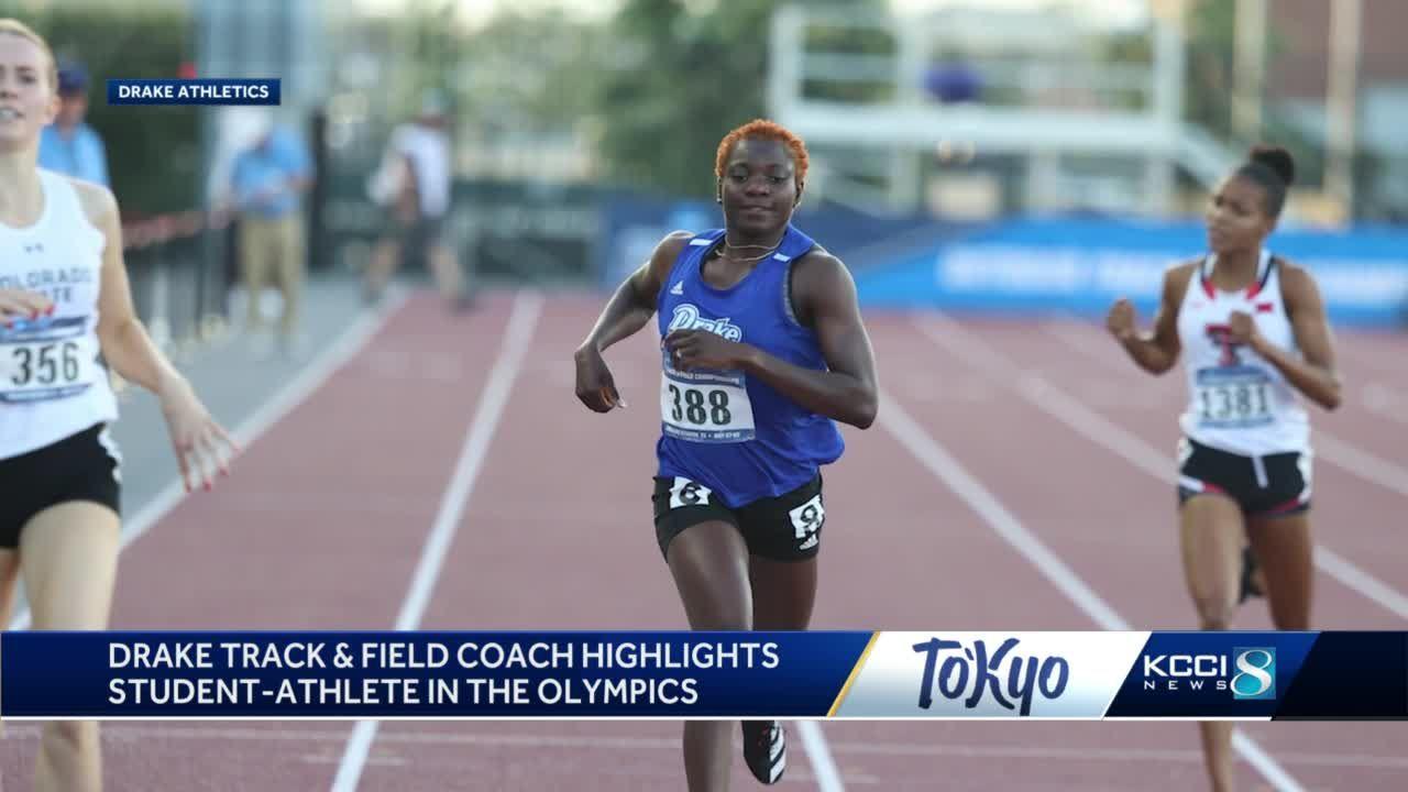 Drake University coach highlights student-athlete preparing to run in Olympics