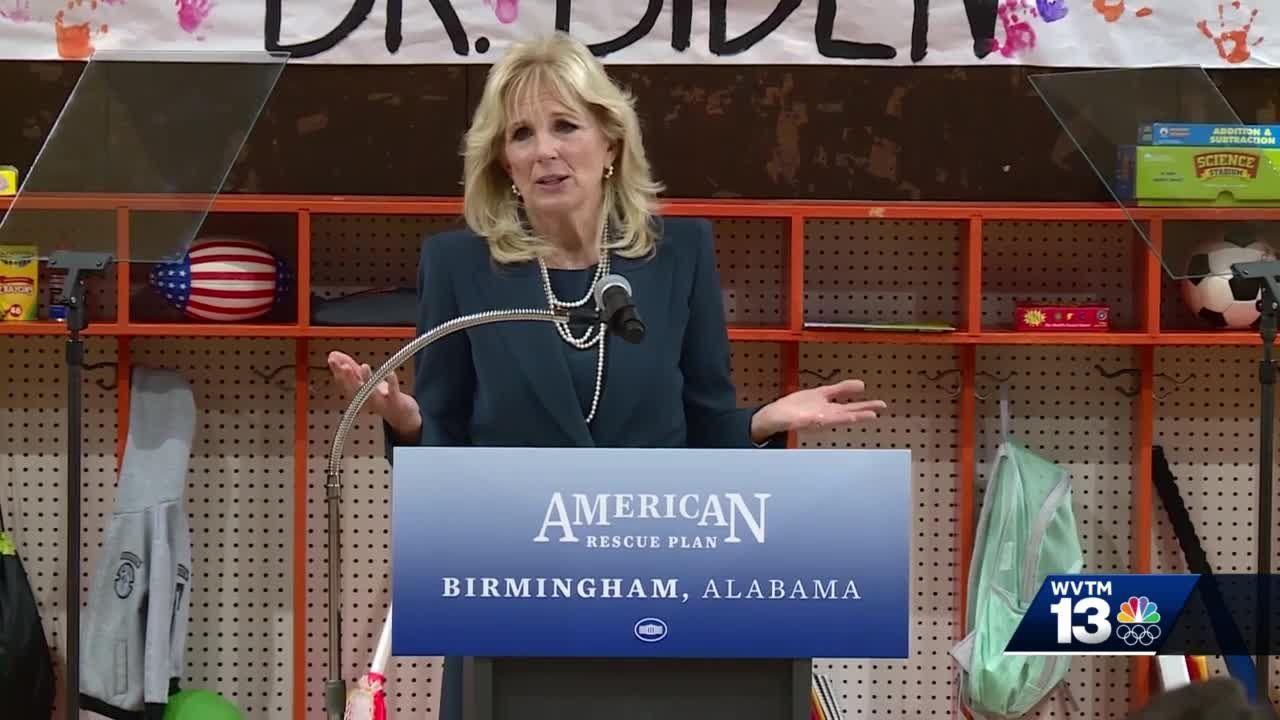 First Lady Jill Biden visits Birmingham