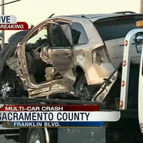 car crash sacramento  4 injured in multi-car crash in Sacramento