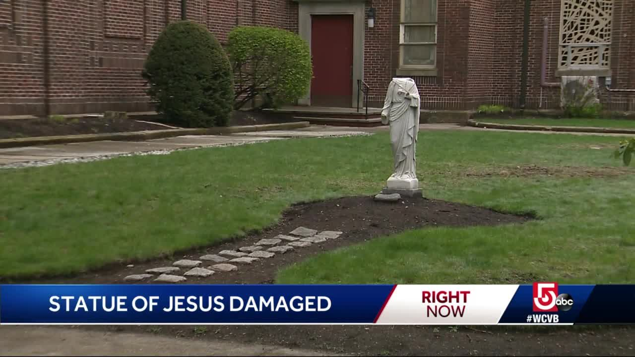 Questions after Jesus statue found with missing head, hand