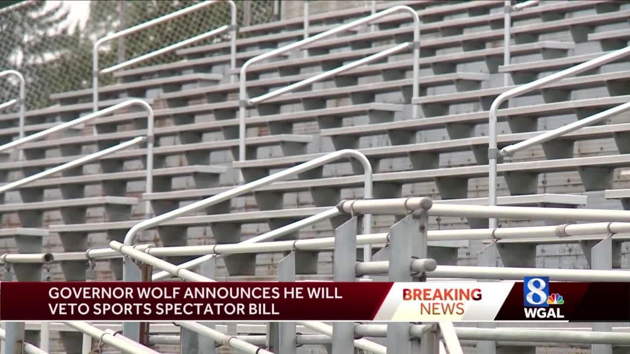 Governor says he will veto school spectators sports bill