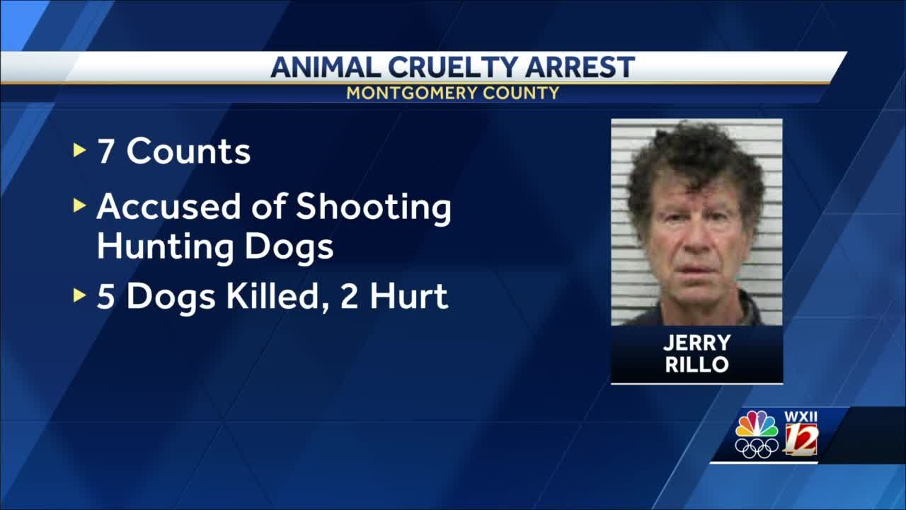 Montgomery County man jailed, accused of shooting, killing 5 dogs, injuring 2