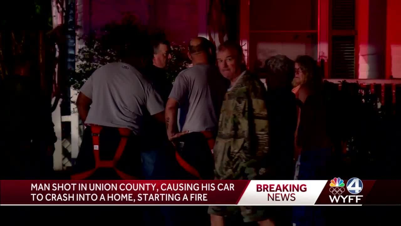 Union man fatally shot while driving, causing car to crash into home, starting fire, deputies say