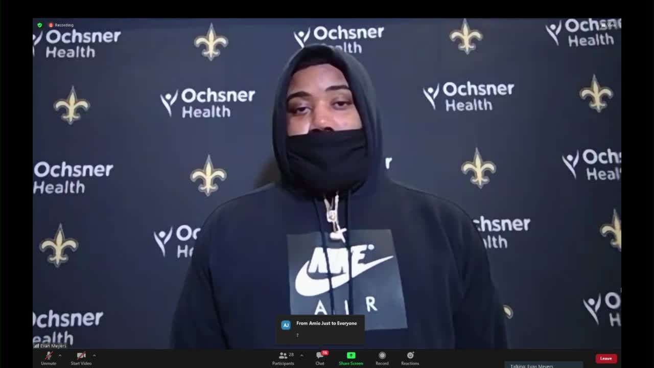 New Orleans Saints holding news conference following playoff loss to Bucs
