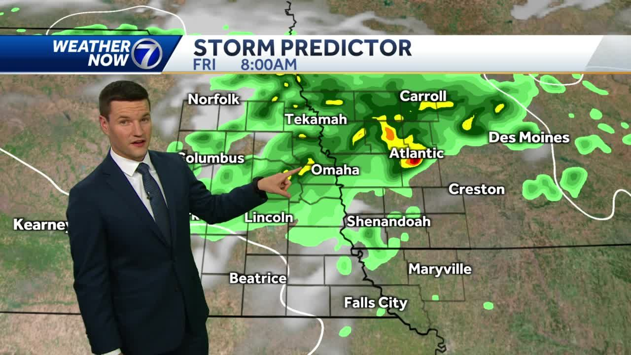 Isolated storms possible Friday, still hot