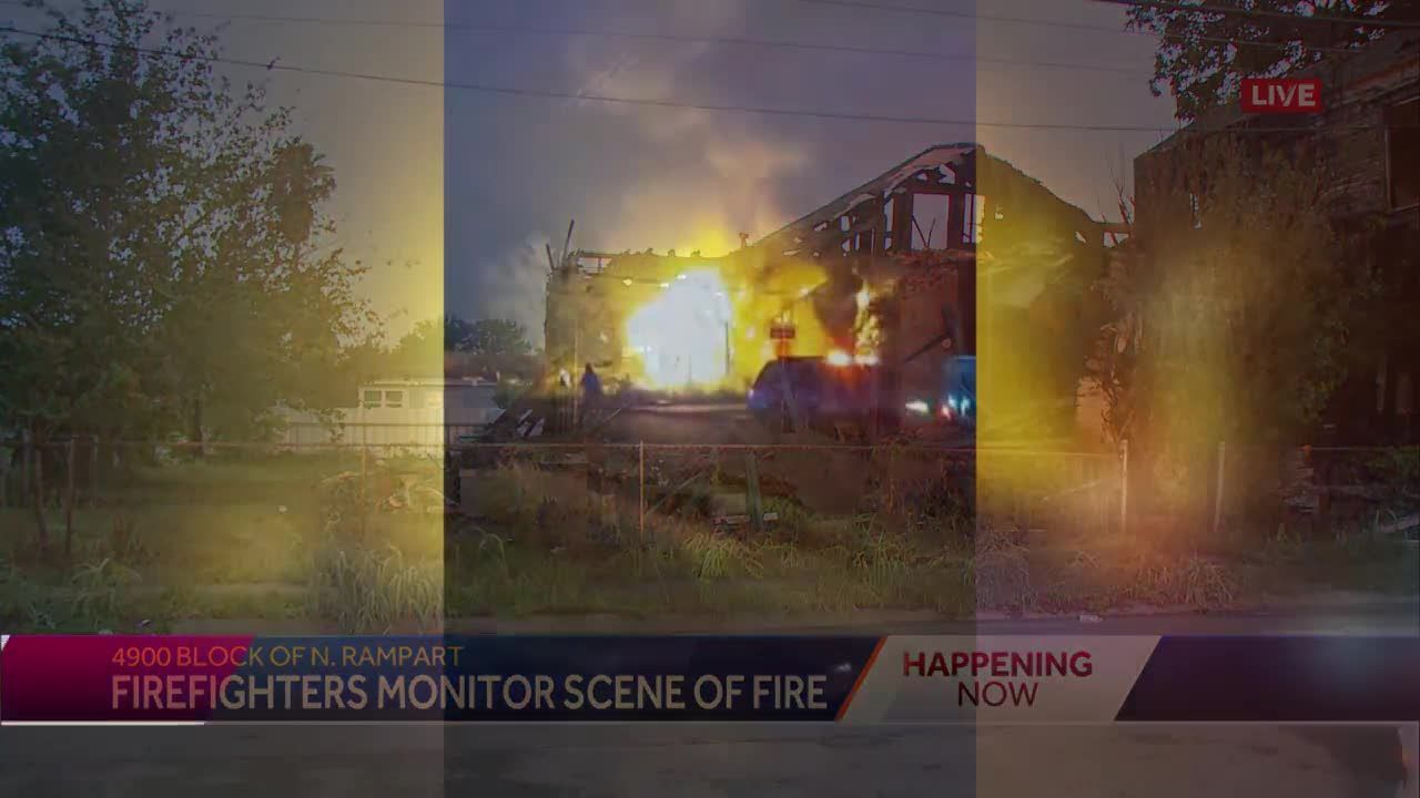 NOFD monitoring scene of fire in 9th Ward