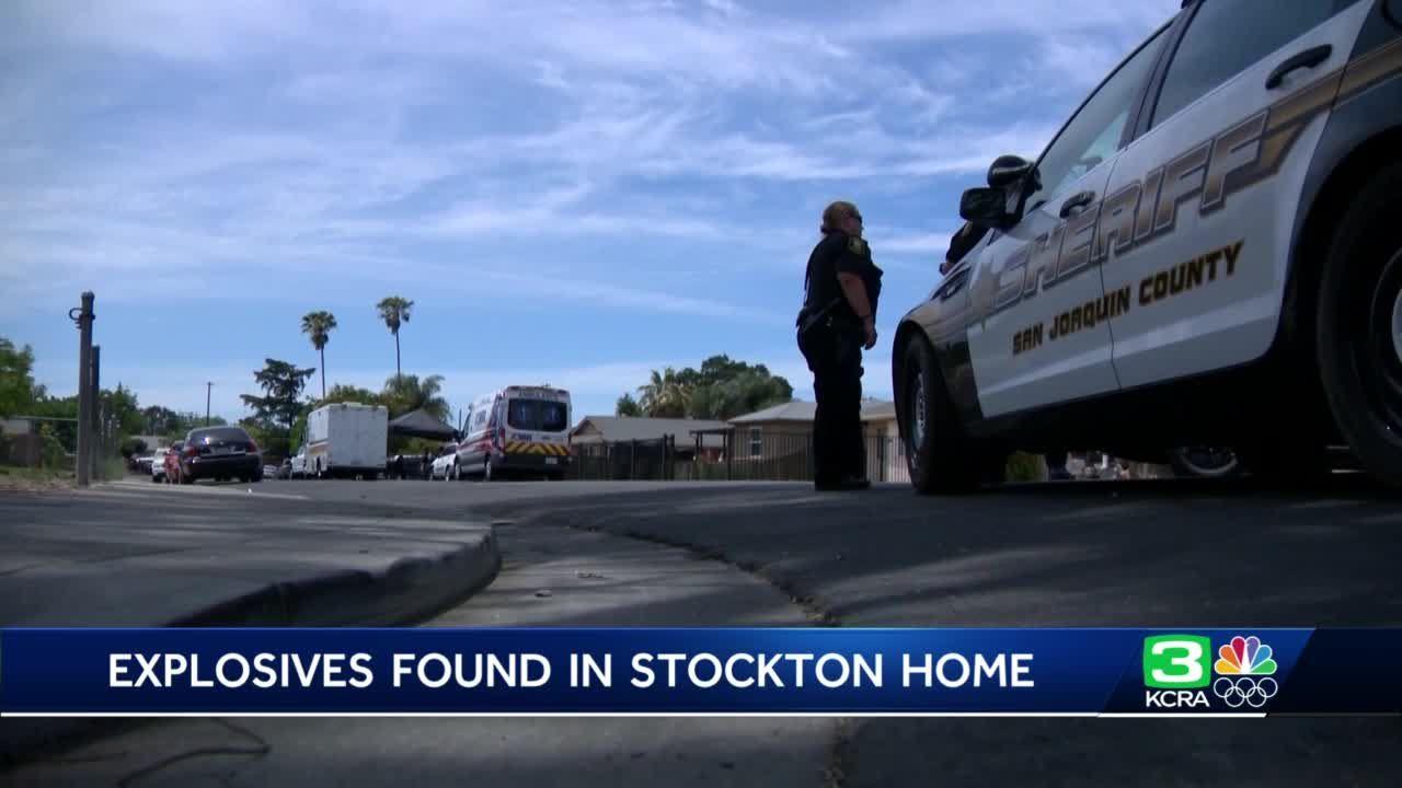 Evacuations ordered after explosives found at Stockton home