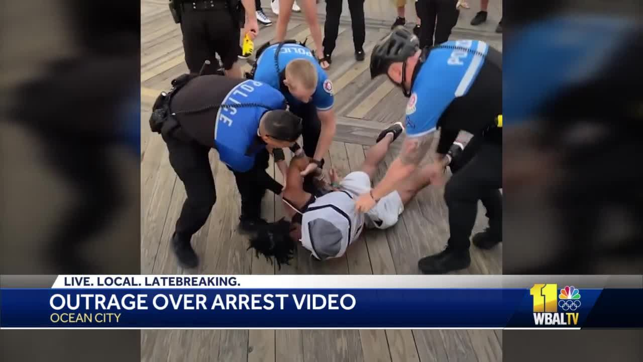 Video goes viral showing use of force during arrest in Ocean City