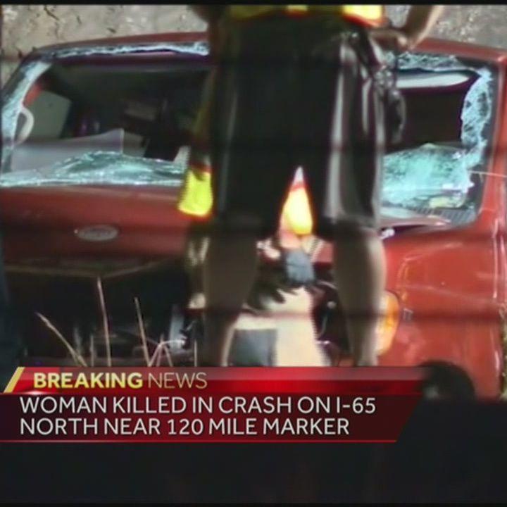 Woman killed in I-65 North crash