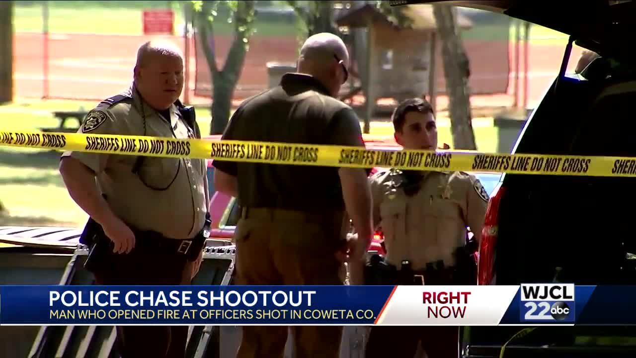 Police chase in Newnan, Georgia ends with shootout
