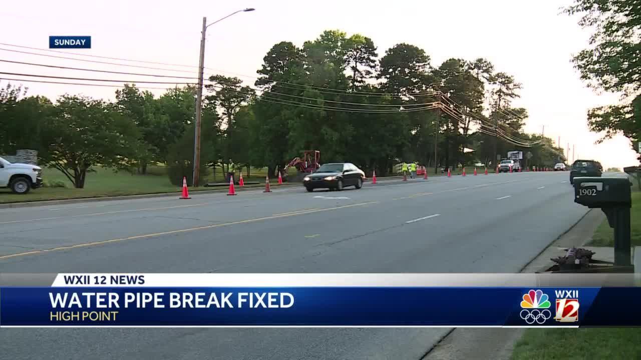 High Point crews fix water main break on Eastchester Drive