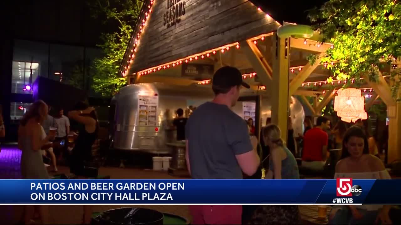 City Hall Plaza Transformed Into Beer Garden