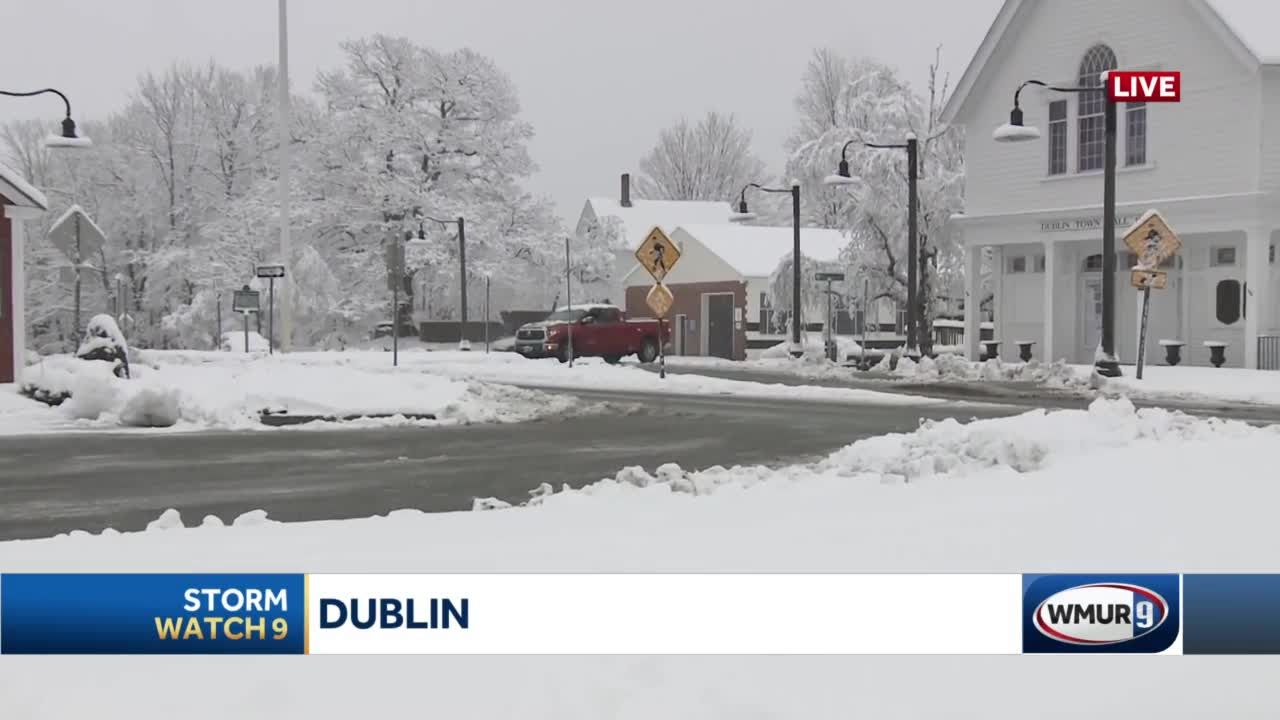 Spring snowfall piles up in Dublin, NH