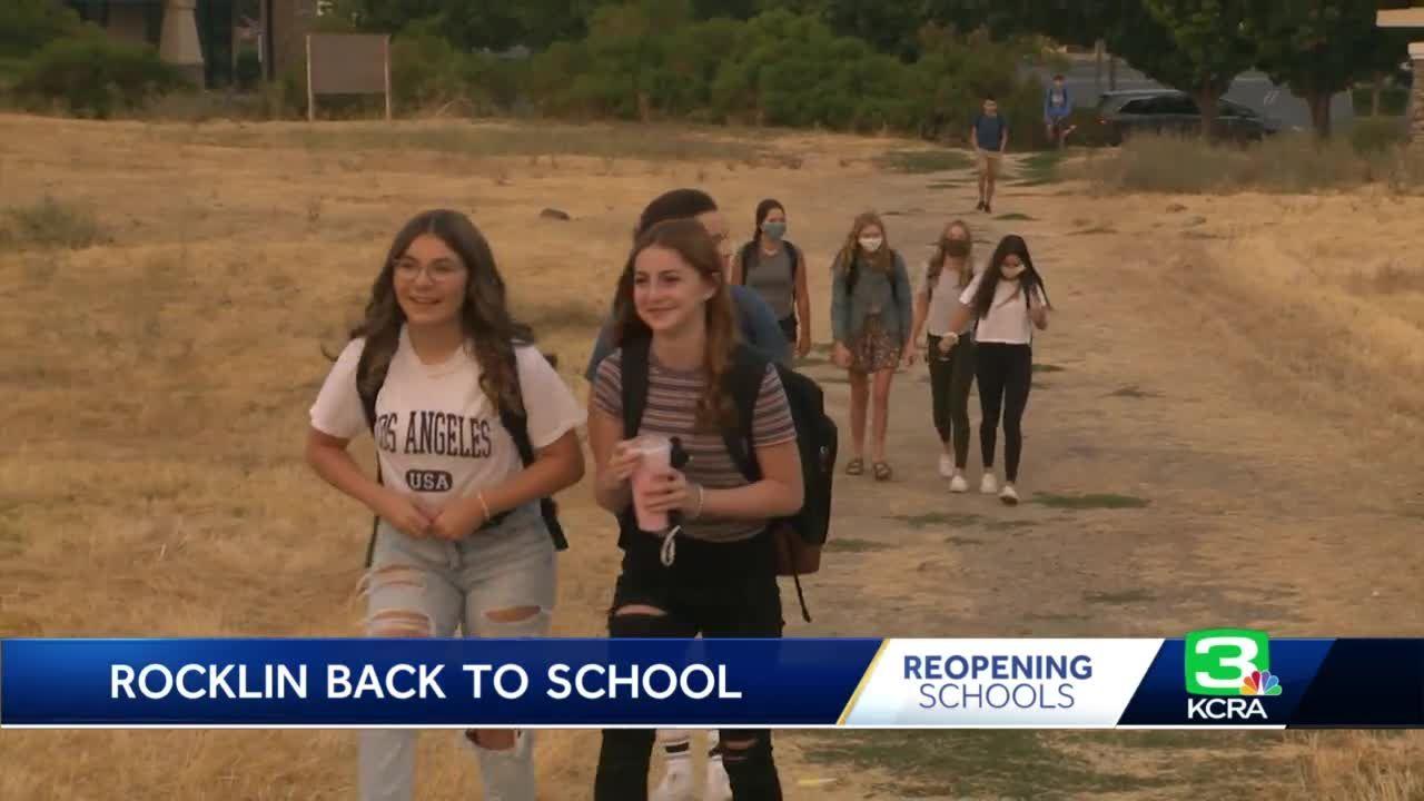Rocklin students return to class under hybrid model