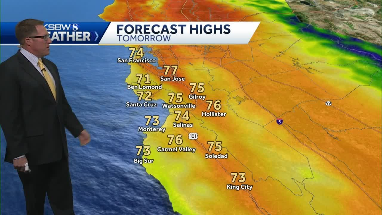 KSBW 8 Weather for October 26