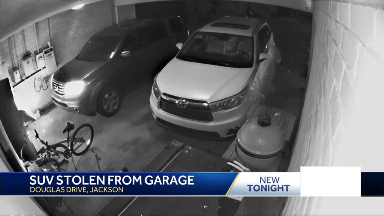 SUV stolen from garage