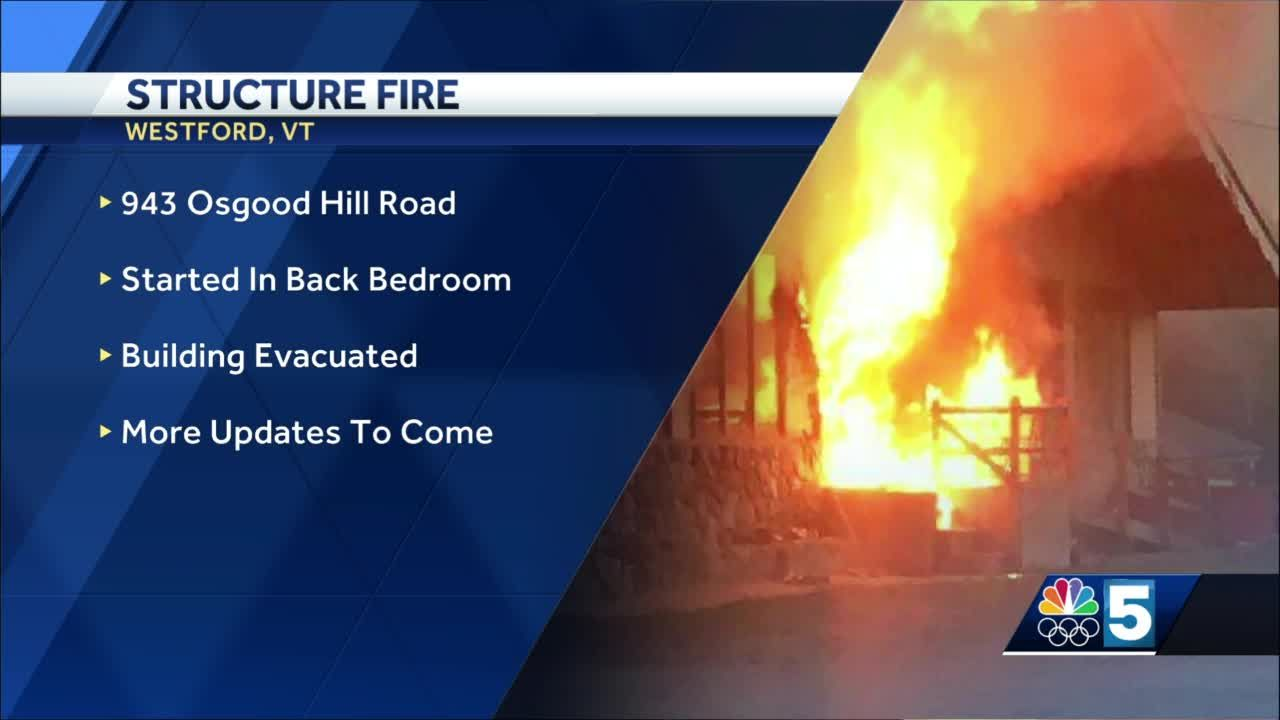 Crews respond to fire in Westford, VT early Saturday morning