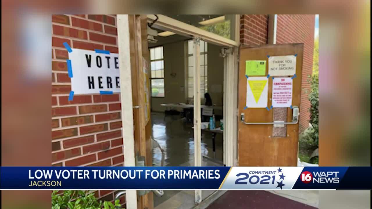 Voter turnout light in Jackson