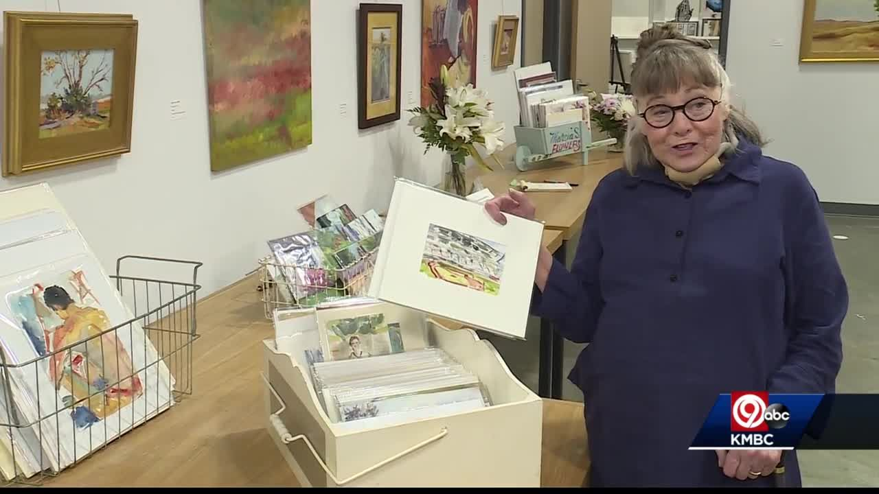 Artist diagnosed with ALS displaying her life's work in Overland Park