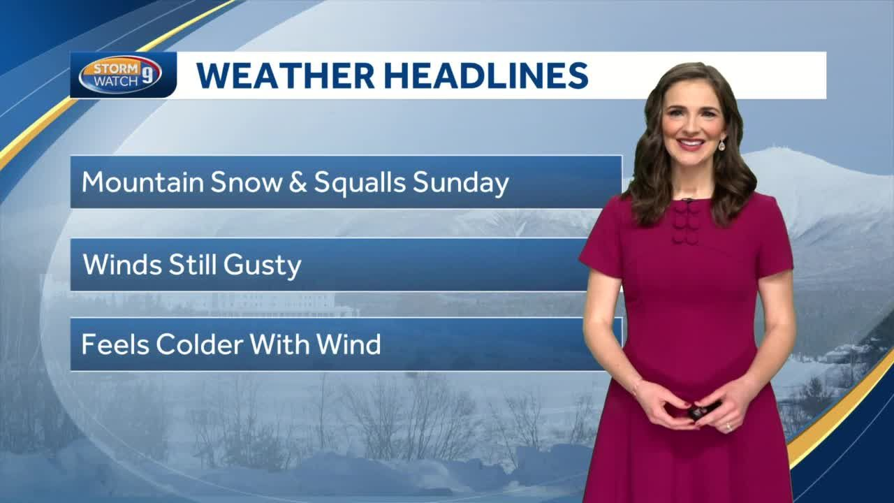 Watch: Snow showers for parts of the state today