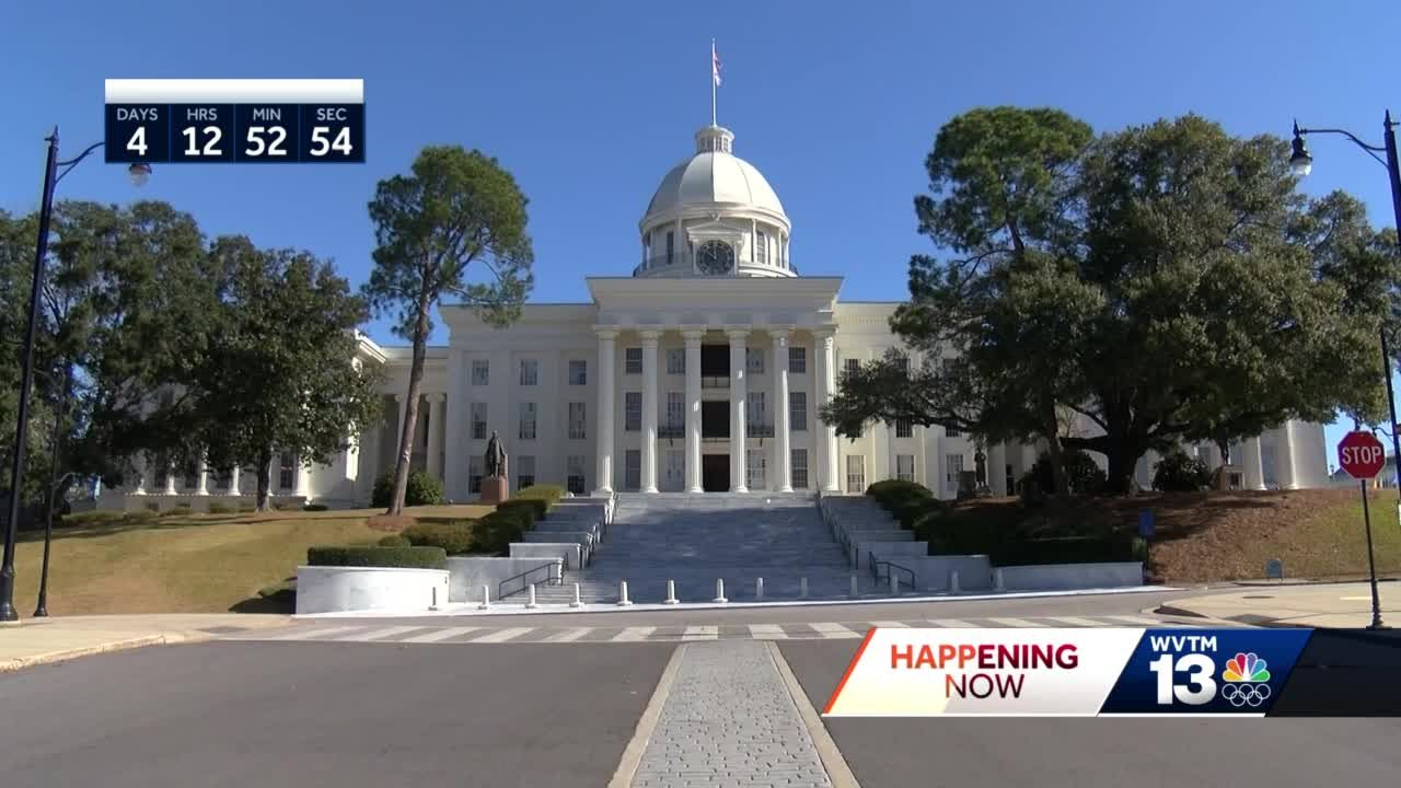 Alabama's State Capitol prepared for protest ahead of Inauguration Day.