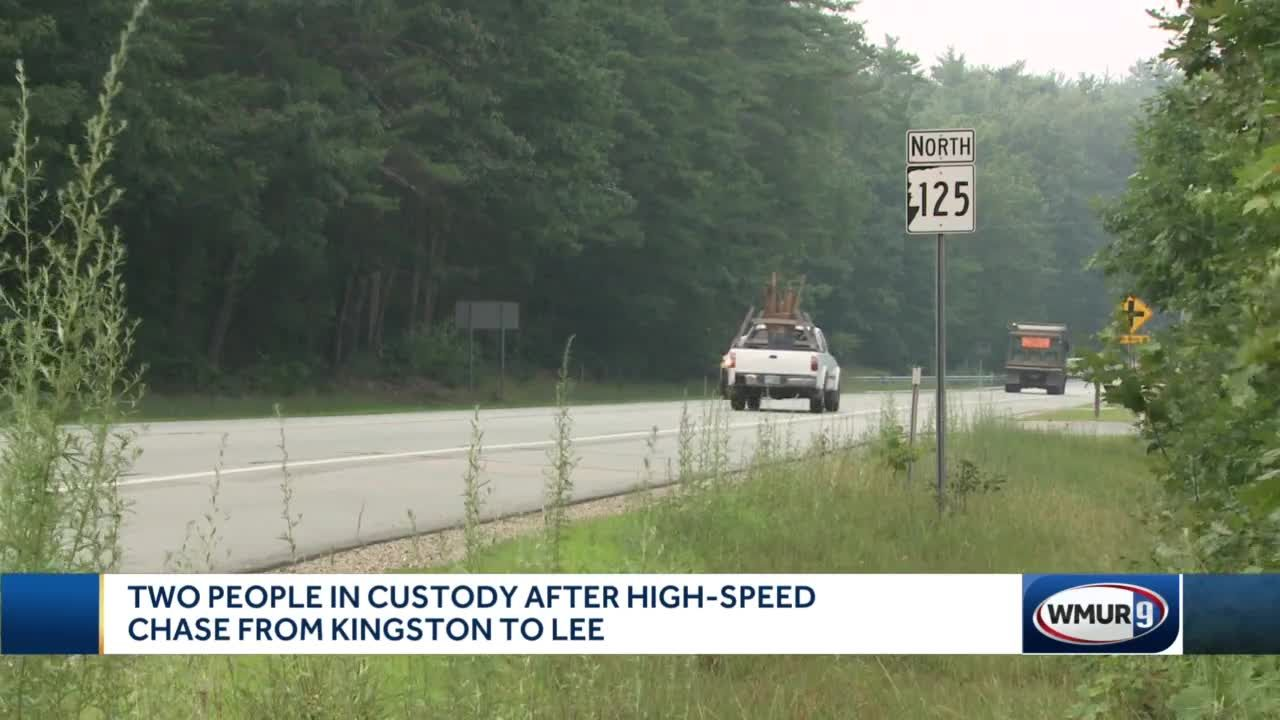 Two people in custody after chase in Lee