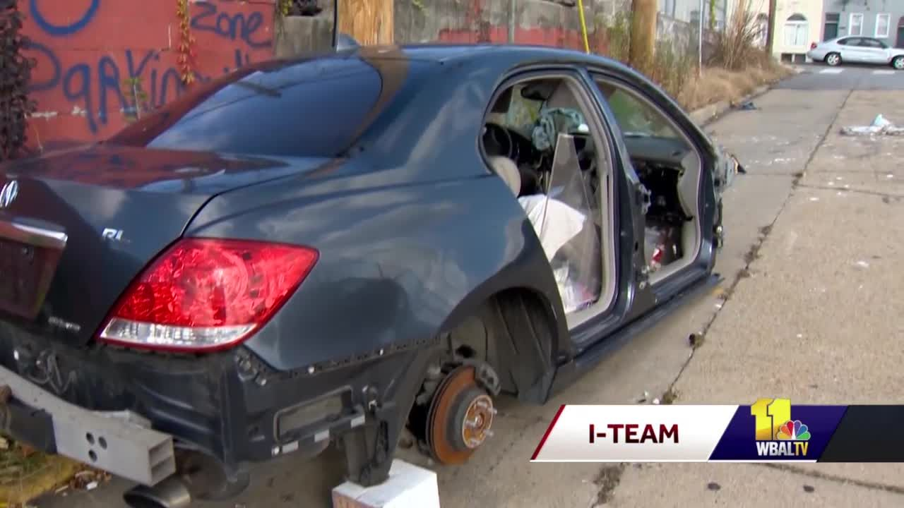 Questions about city's response to abandoned cars on Baltimore streets
