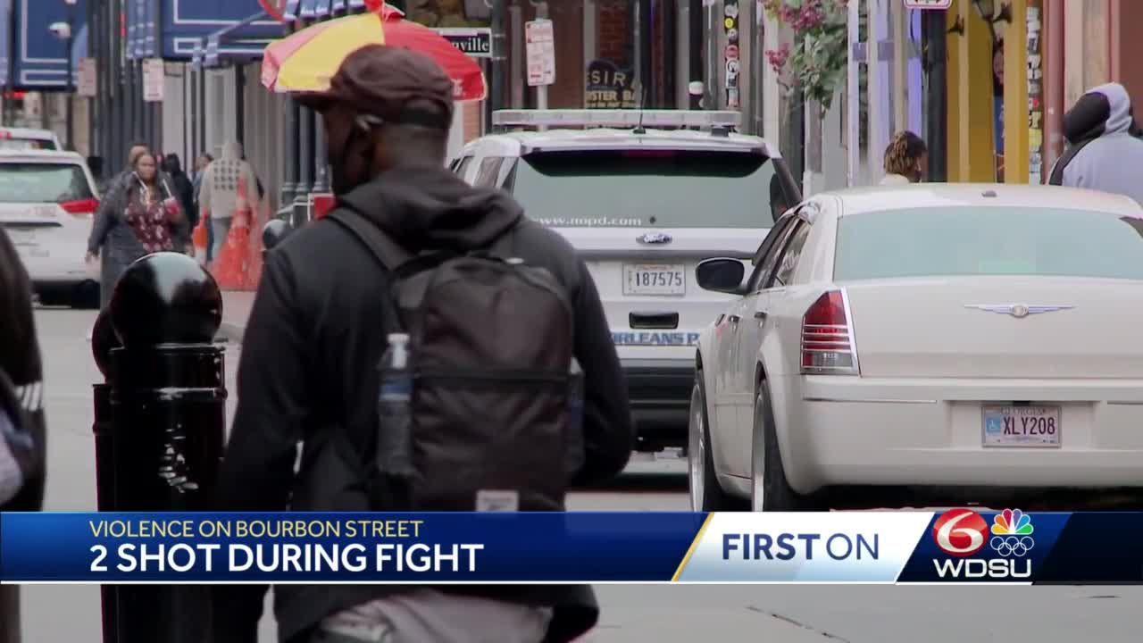 Two shot during fight on Bourbon Street