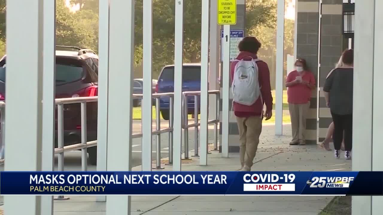 Masks optional next school year in Palm Beach County