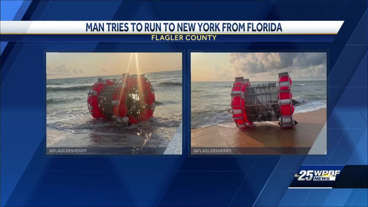 Florida man's attempt to walk on water to New York City ends short of goal