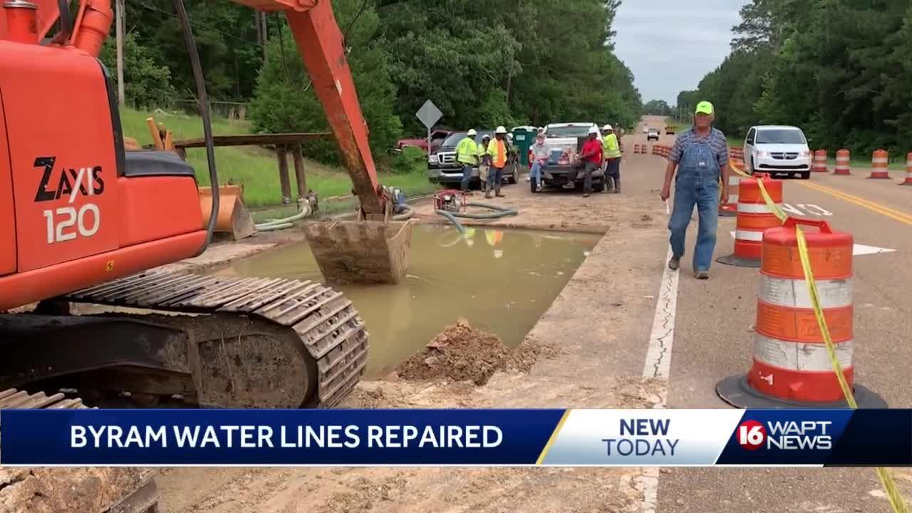 Byram water main repair underway