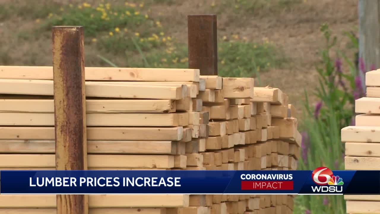 Lumber prices increase amid pandemic
