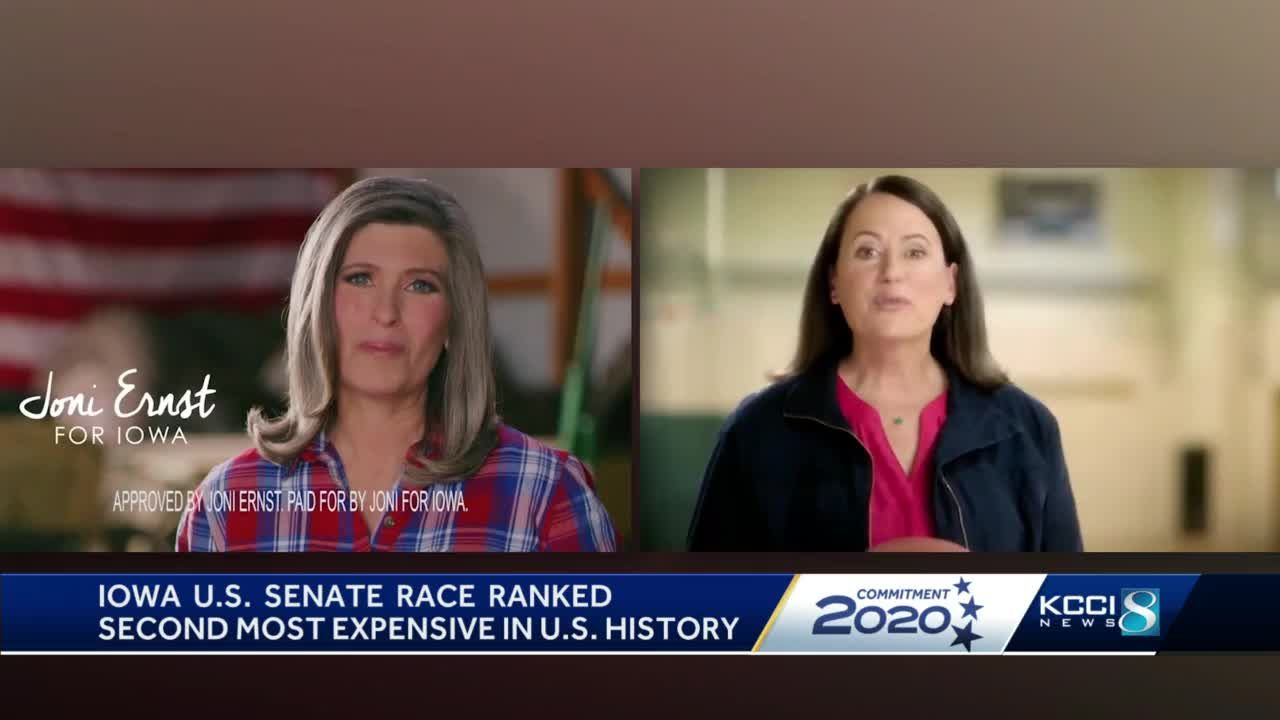 Ernst, Greenfield running second most expensive political race in U.S. history