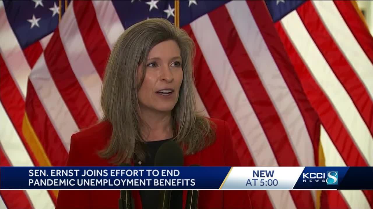 Sen. Ernst backs bill to end pandemic unemployment benefits