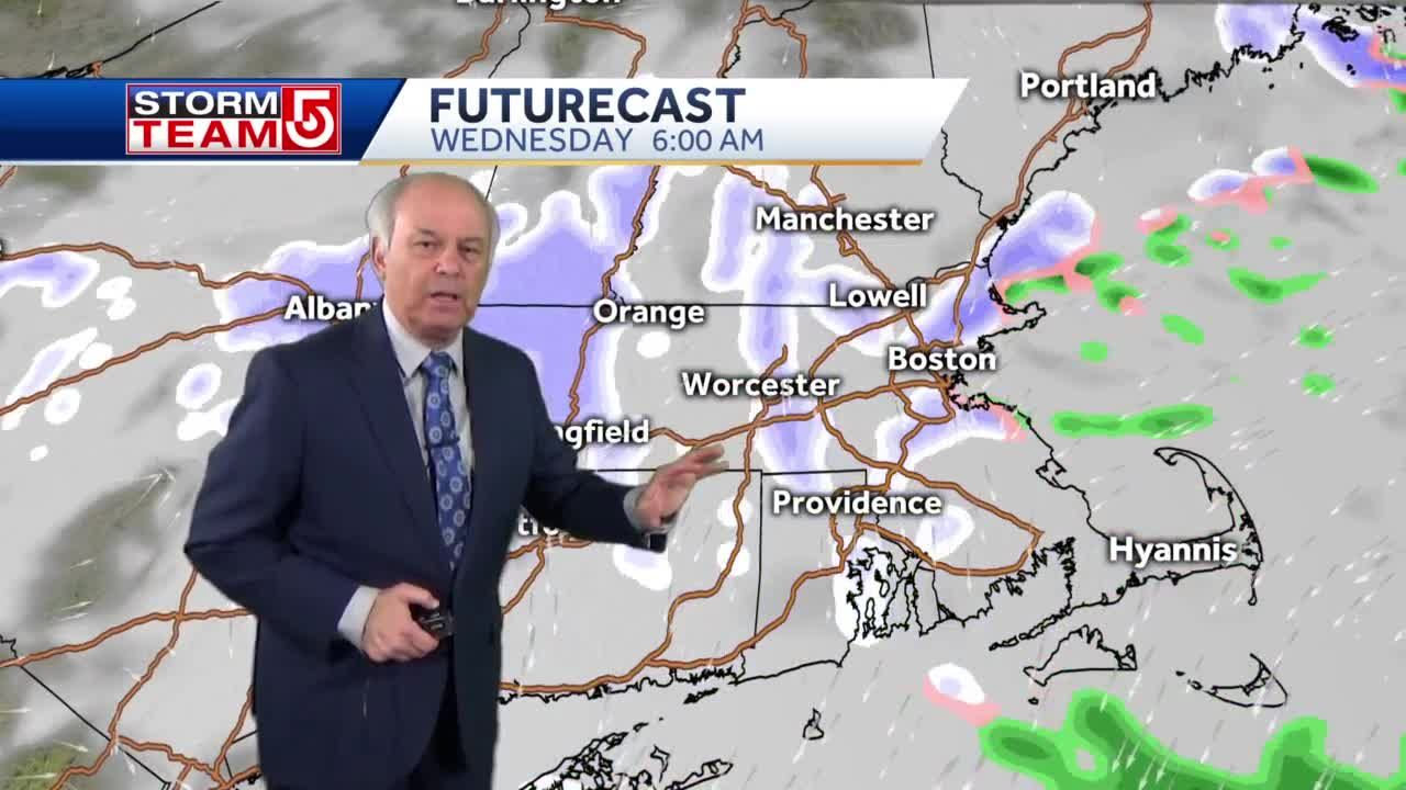 Video: Heavy snowfall starting to dwindle heading into the overnight