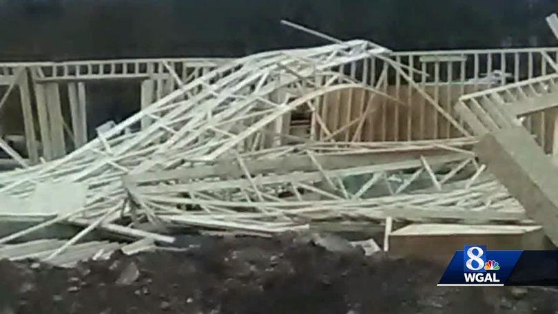 Building under construction collapses
