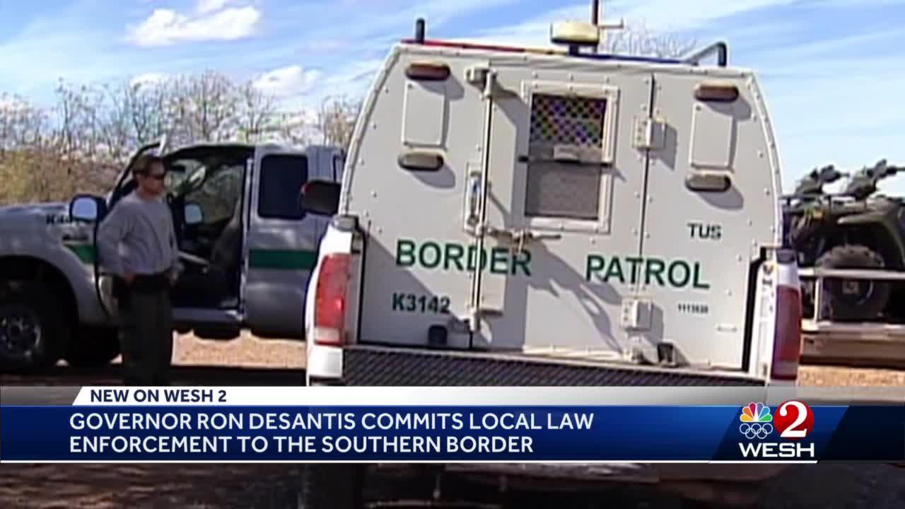 Gov. DeSantis commits local law enforcement to the southern border