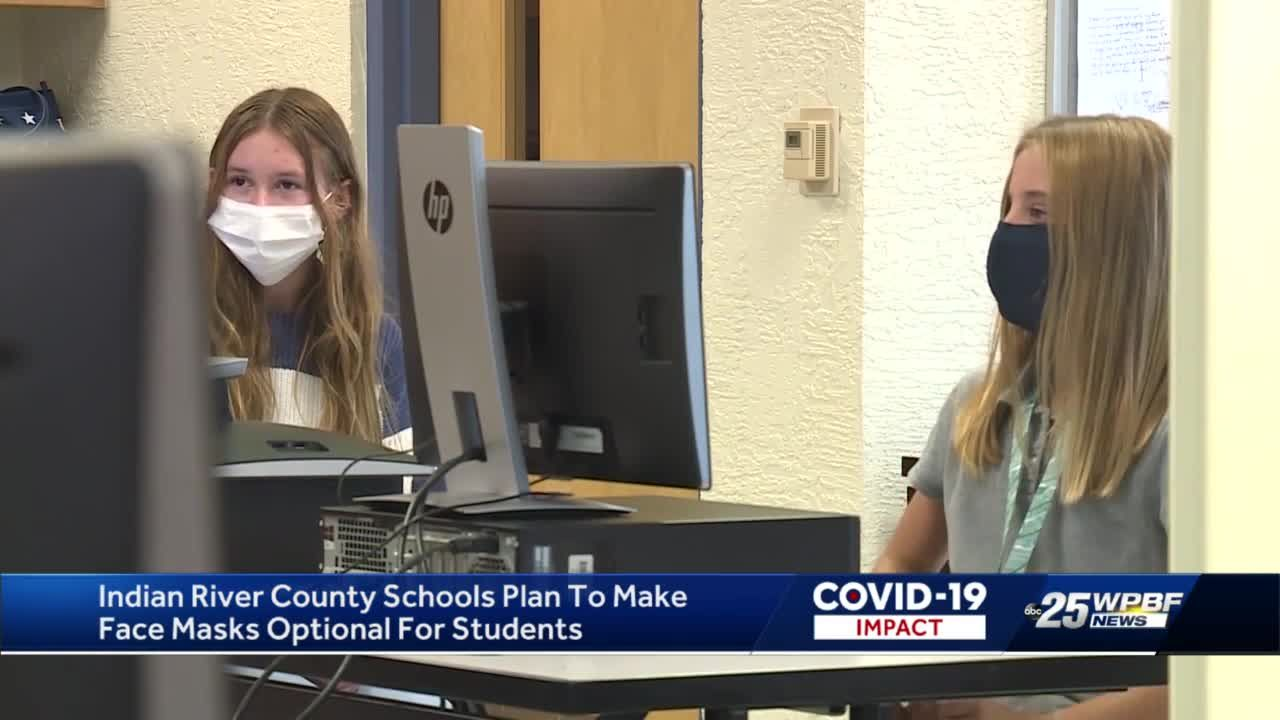 Indian River County schools plan to make face masks optional for students