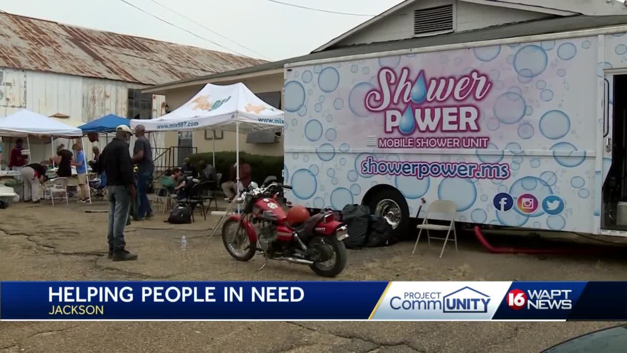 Shower Power helping feed the homeless