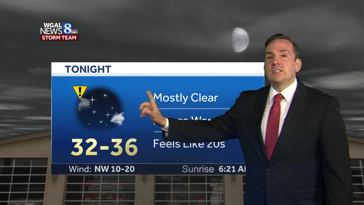 Freeze Warning Tonight; Chilly Thursday