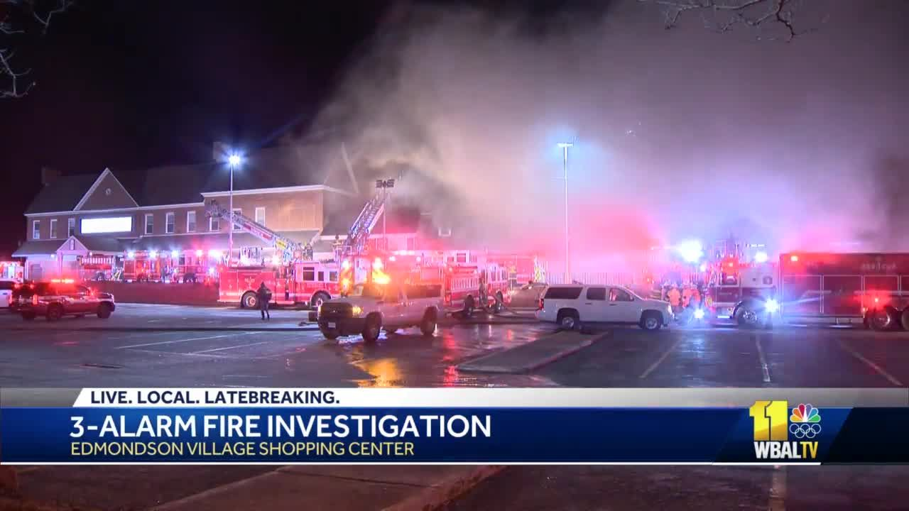 Fire, cleanup crews board up storefronts after fire