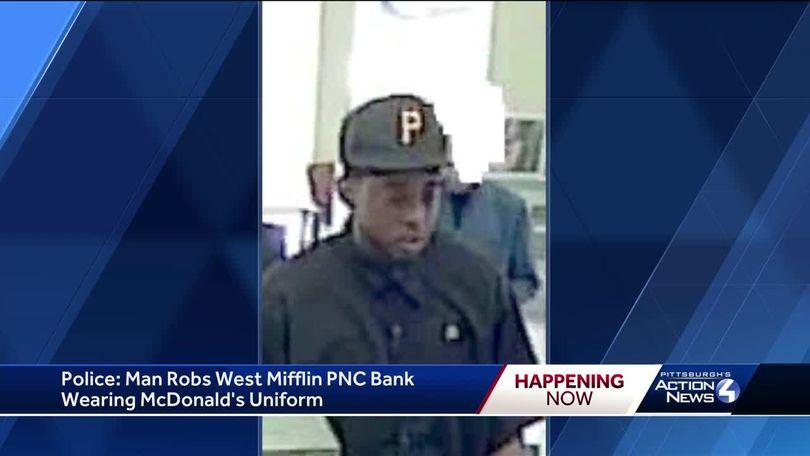 FBI: Man wearing McDonald's uniform robs PNC Bank in West