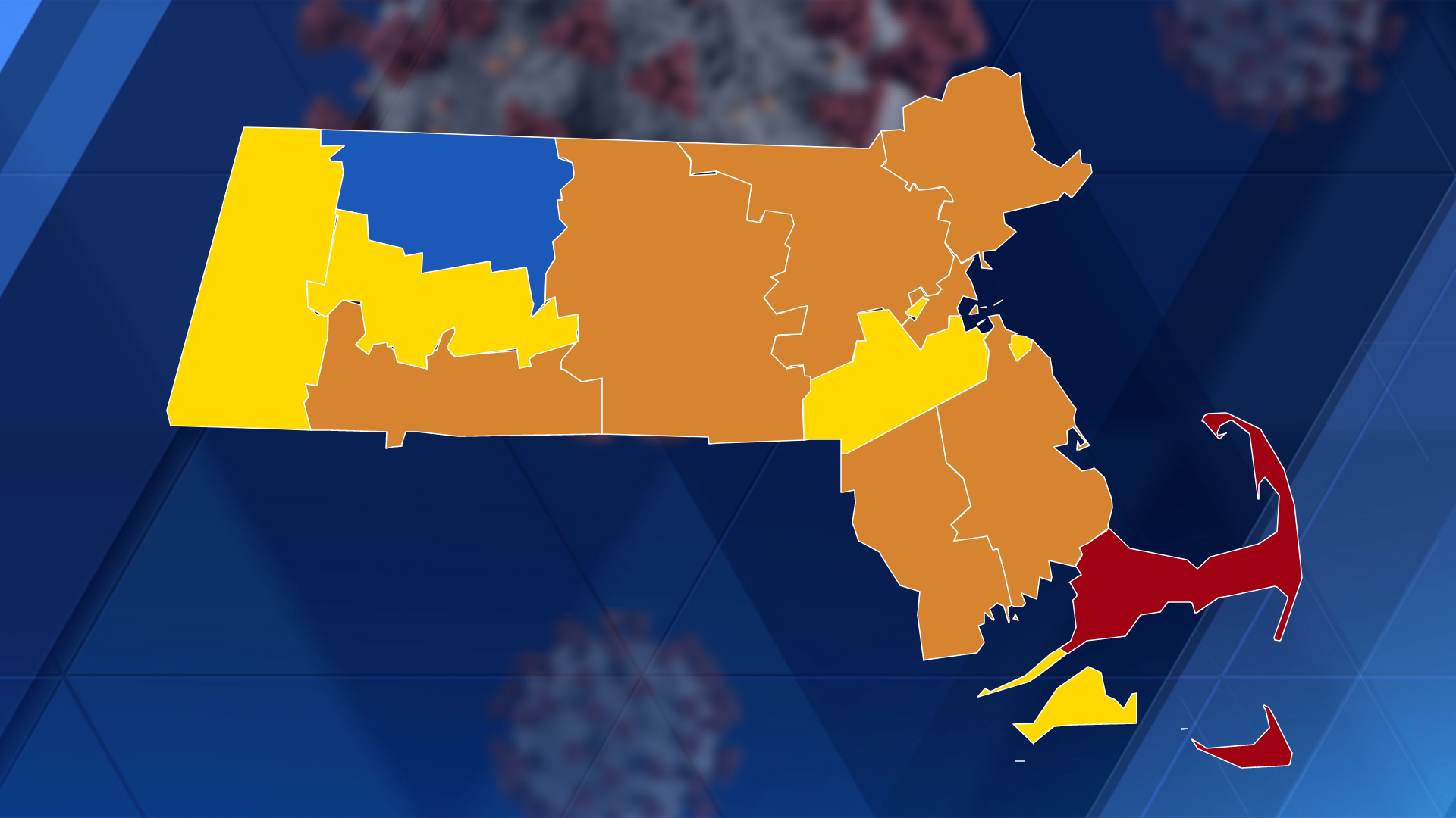 CDC: 9 Mass. counties now at 'substantial' risk for COVID-19 spread