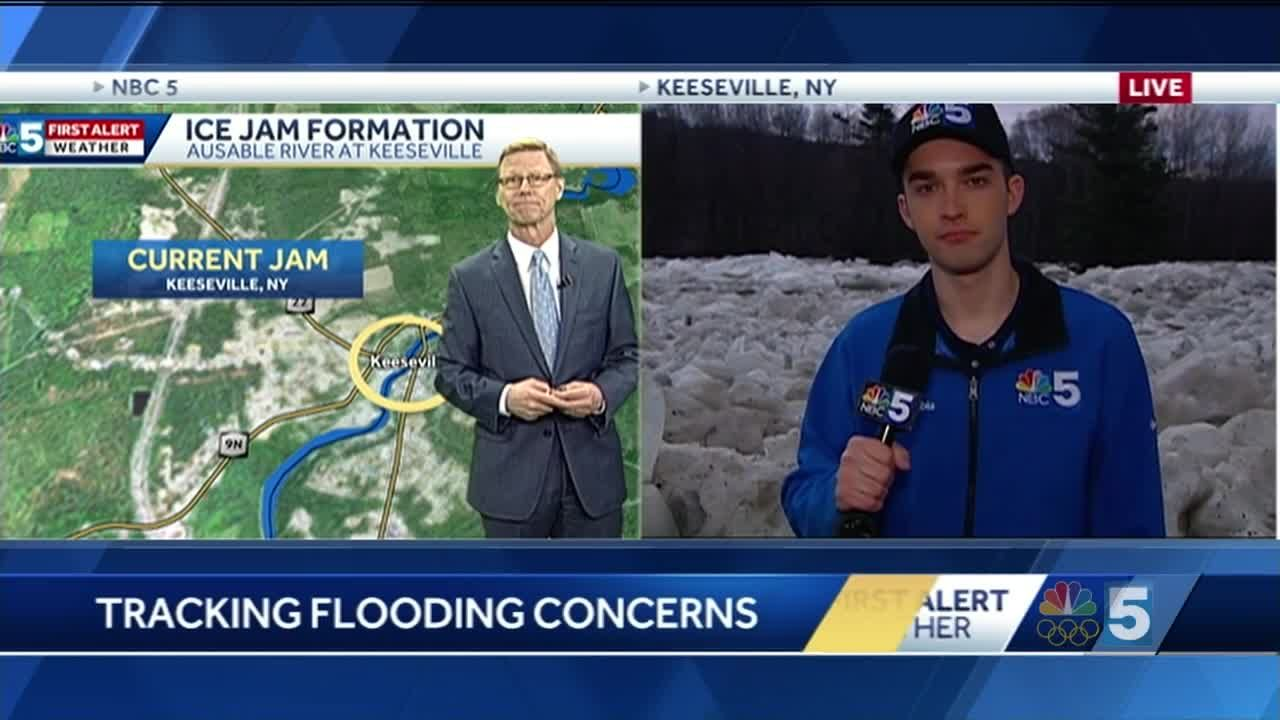 Video: Tom Messner and Tyler Jankoski are looking at area ice jams  2 21 18