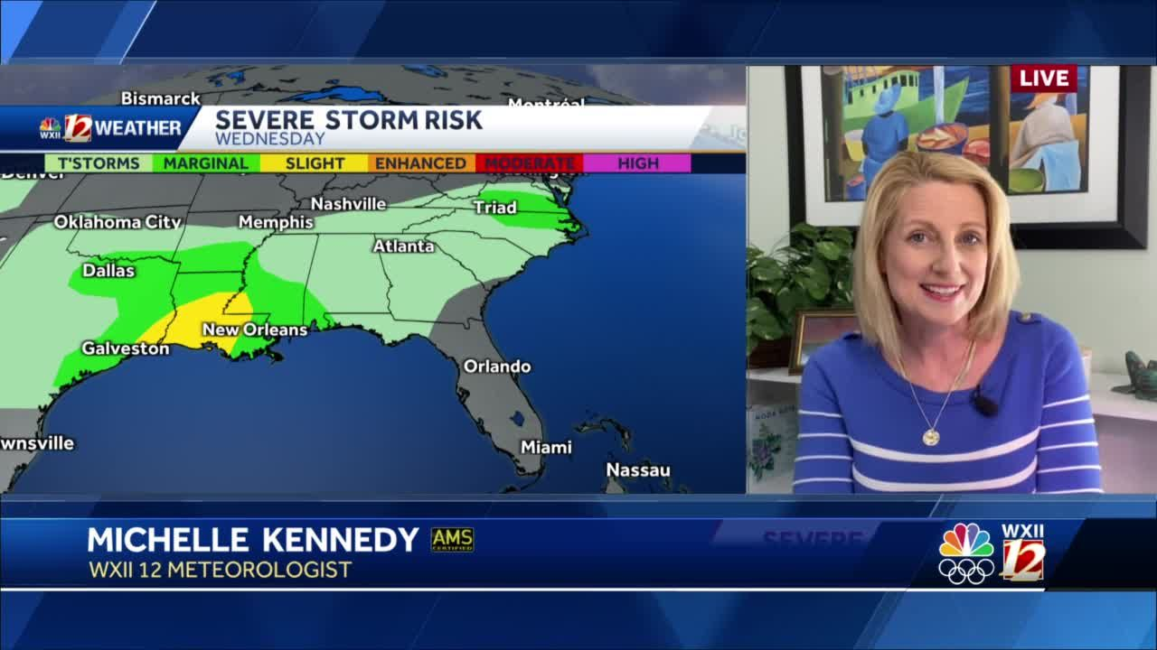 WATCH: Thunderstorm Chances Build For This Evening Plus Windy And Mild Tomorrow