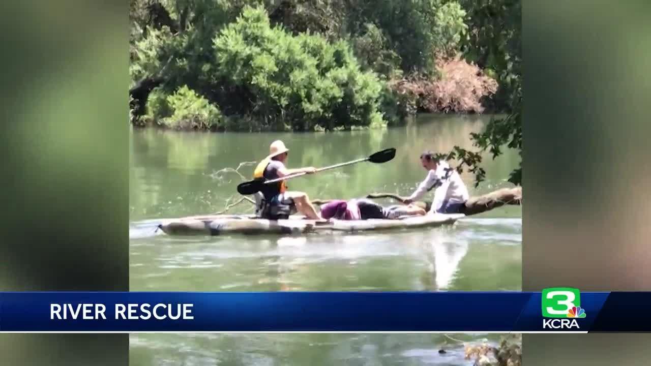 Off-duty firefighter rescues kayakers from a Lodi river