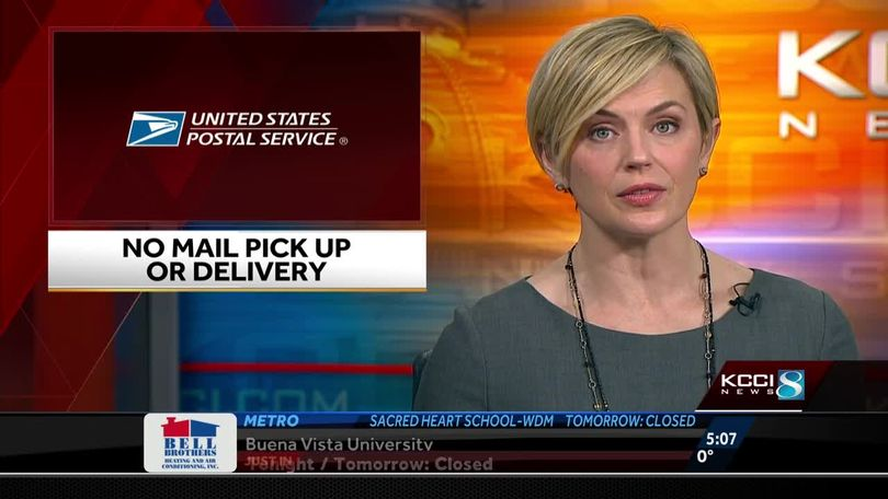 United States Postal Service suspends delivery in Iowa due